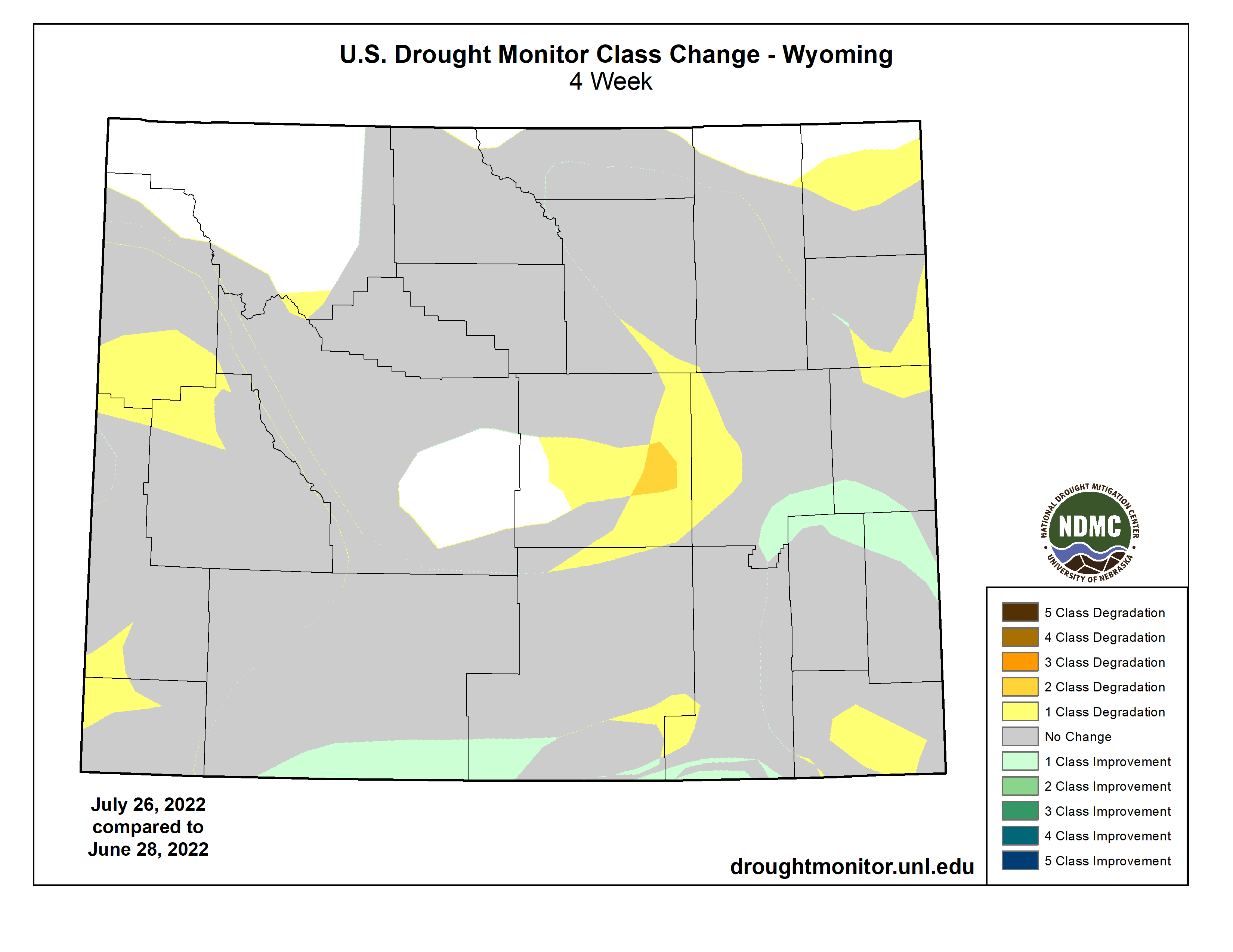 Drought Classification Change - 1 Month