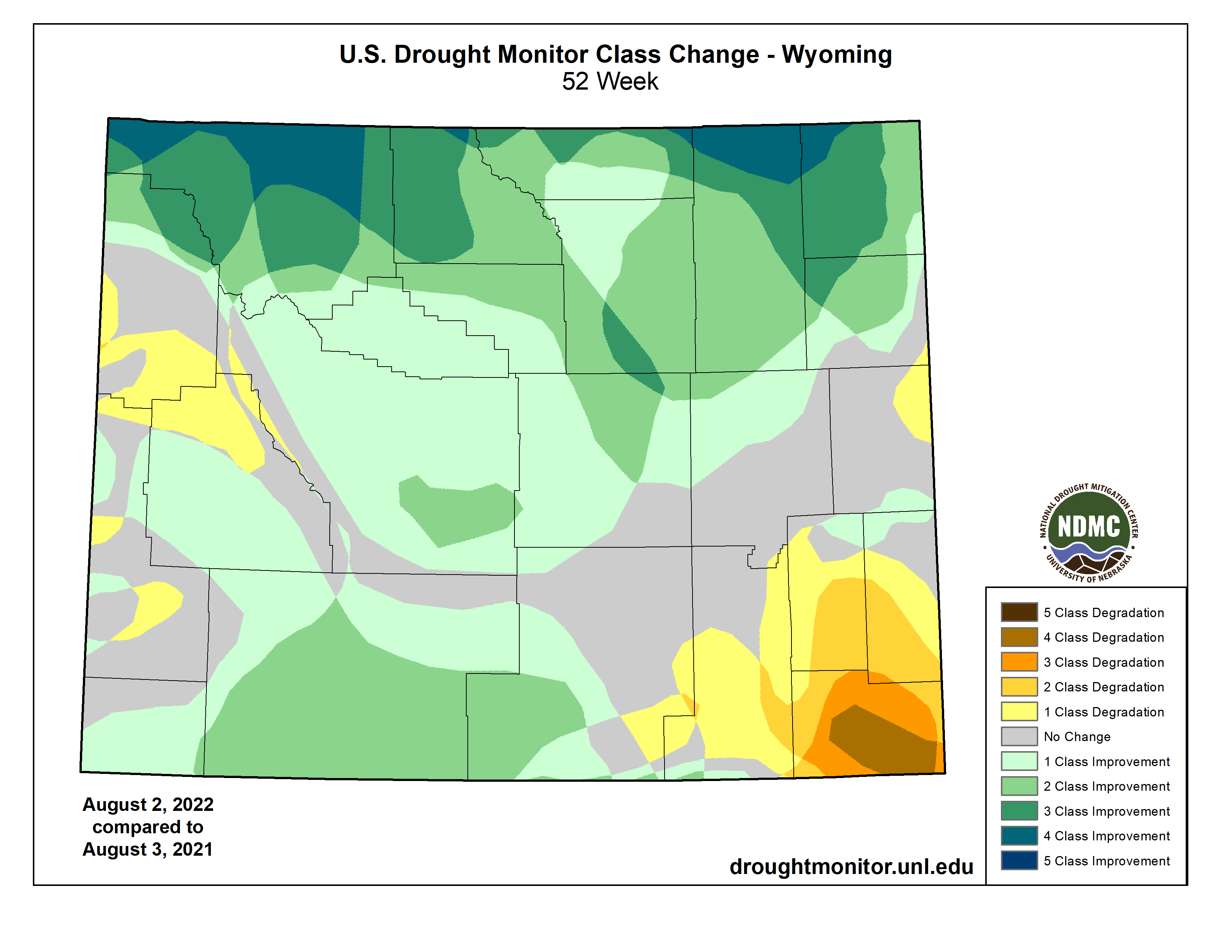 Drought Classification Change - 1 Year