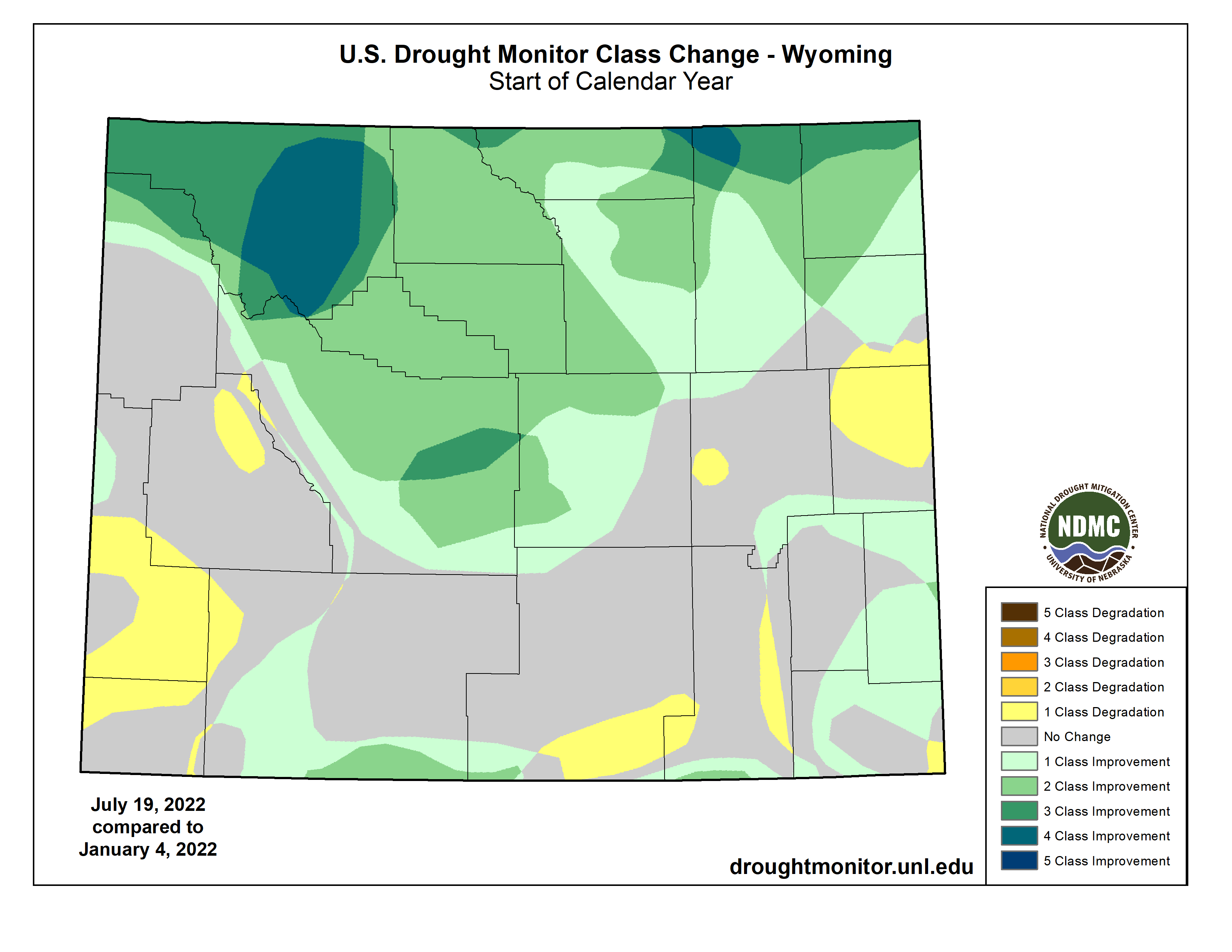 Drought Classification Change - 2017