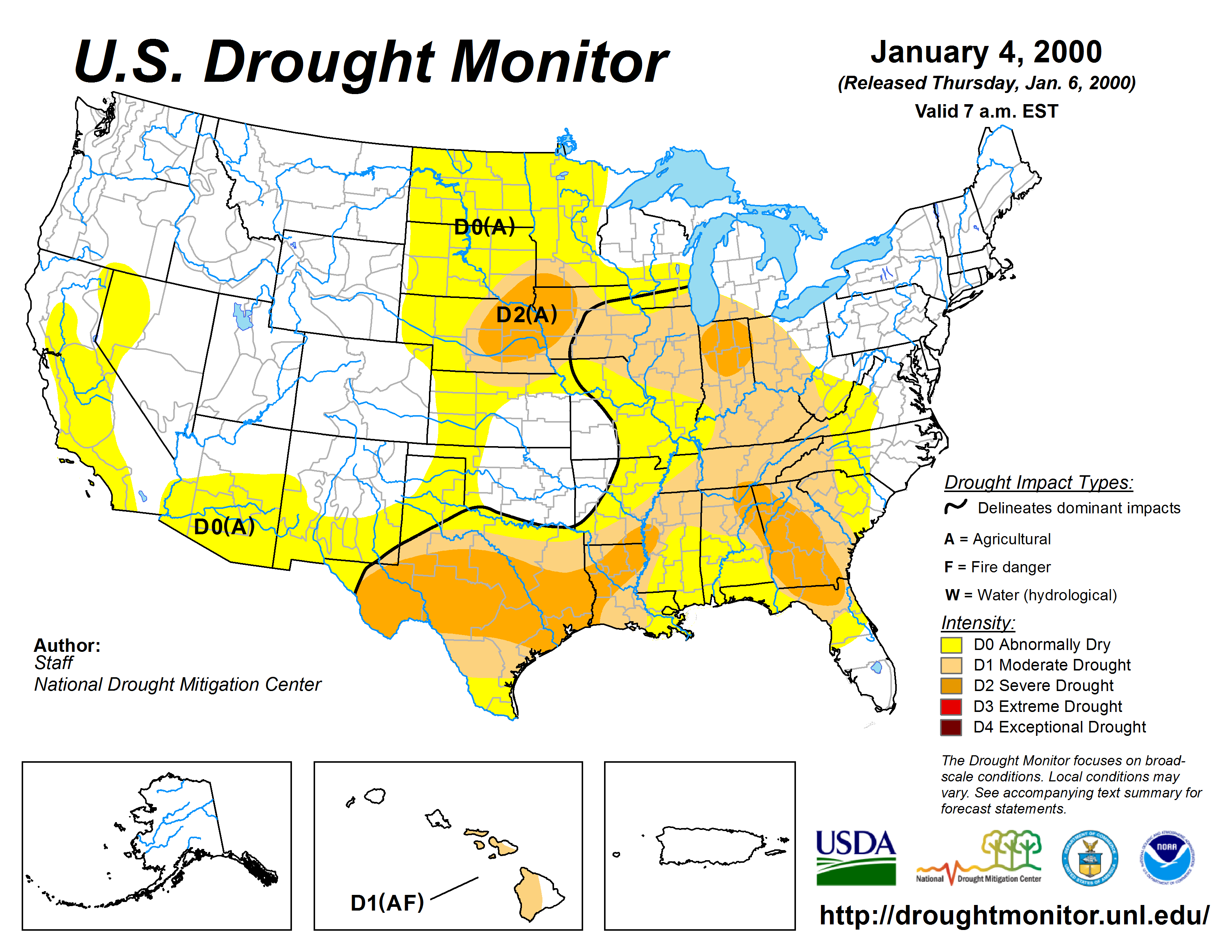 Drought Monitor for usdm