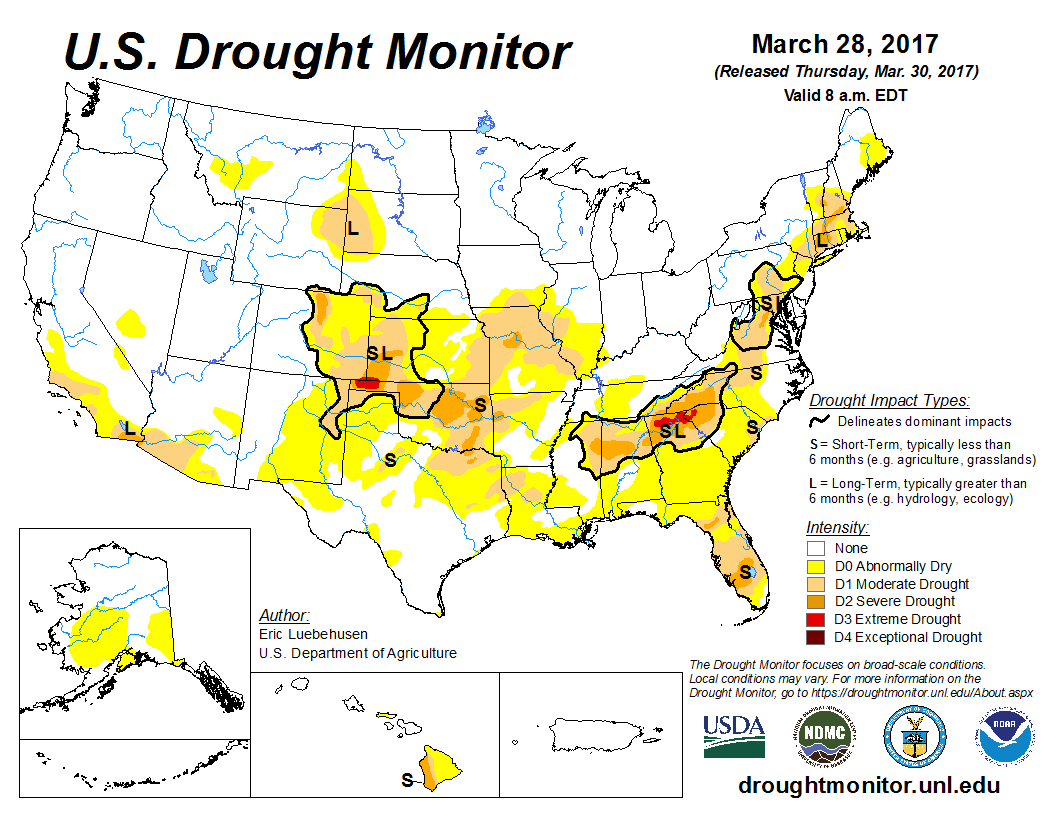 US Drought Monitor Wet And Mild - Us drought map weather com