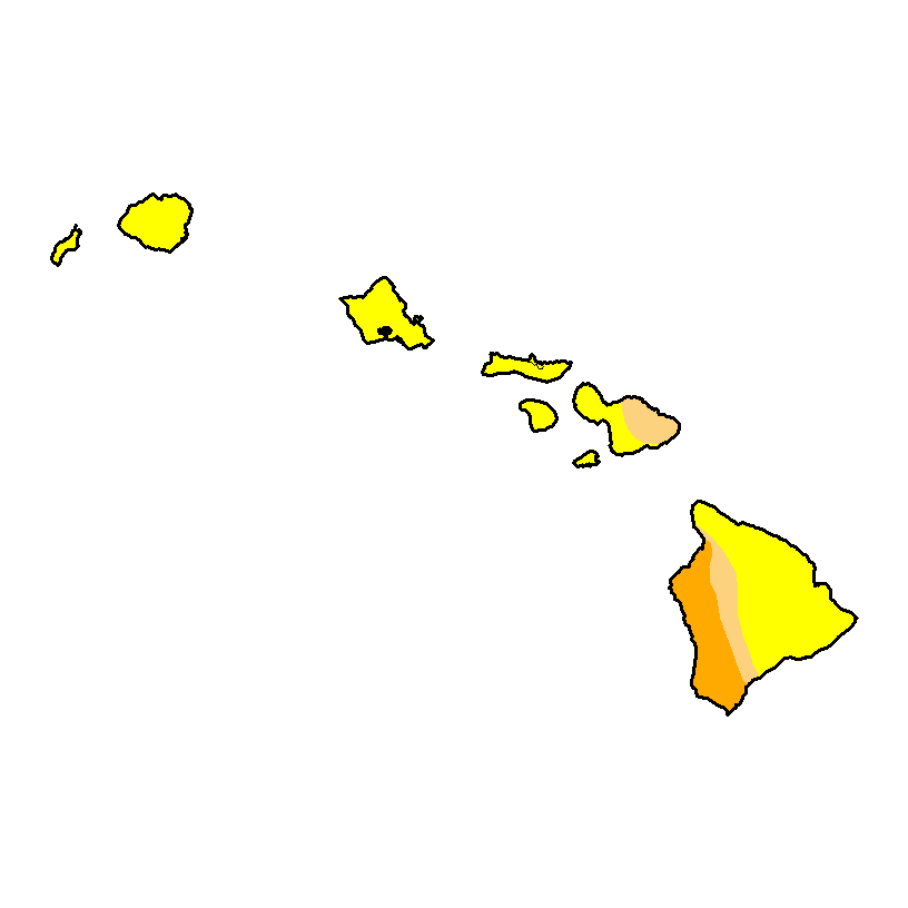 U.S. Drought Monitor forHawaii