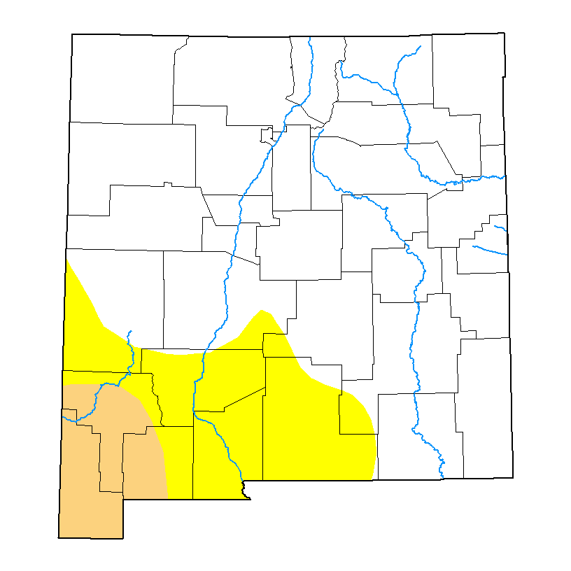U.S. Drought Monitor forNew Mexico