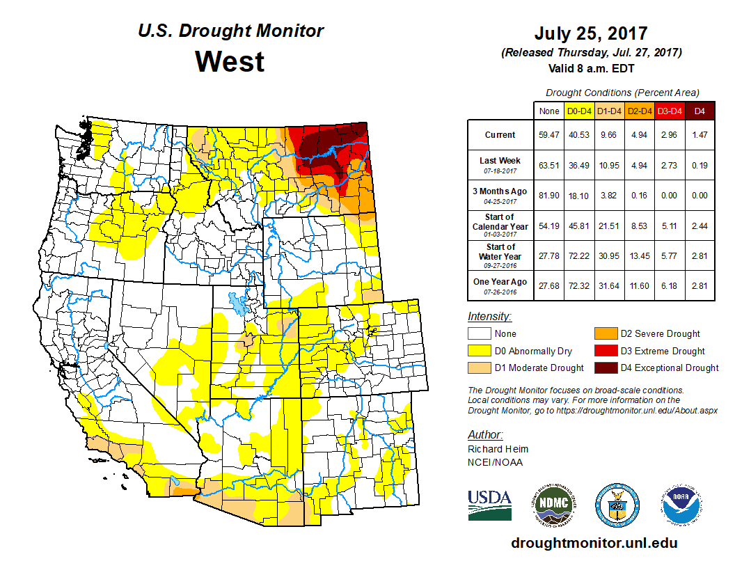 Regional Drought Monitor - Map us 94