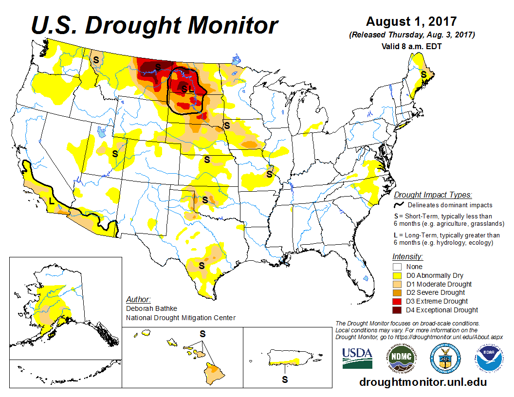 United States Drought Monitor  Home - Us weather map july