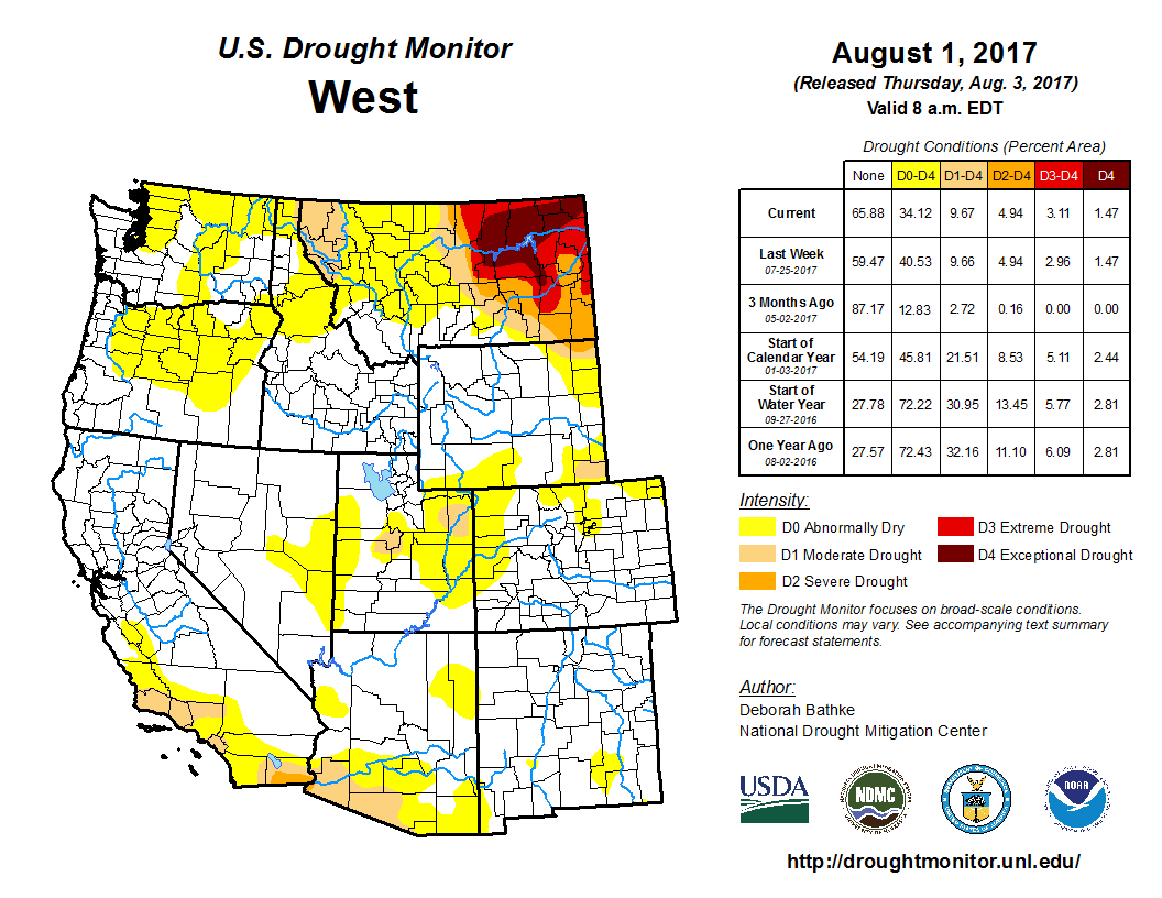 Regional Drought Monitor - Us weather drought map