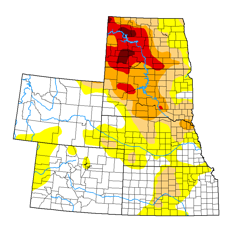 Current US High Plains Drought Monitor