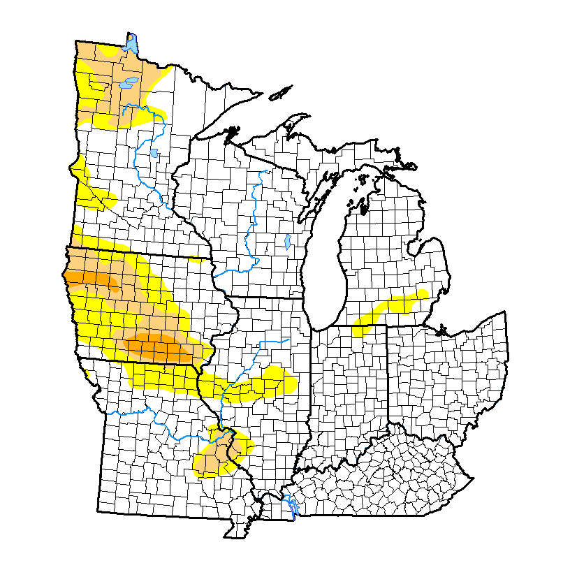 Current US Midwest Drought Monitor