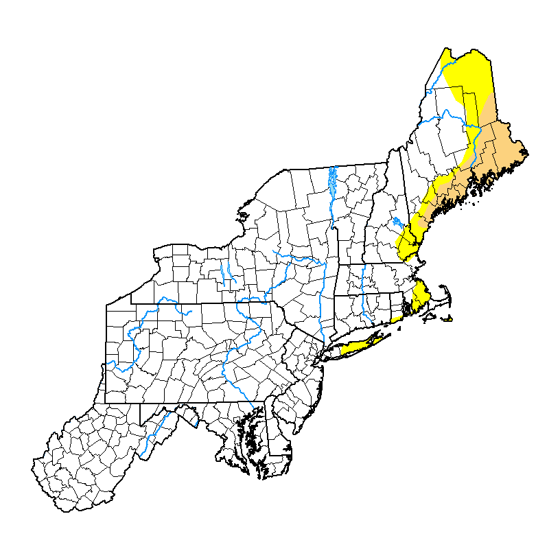 U.S. Drought Monitor forNortheast