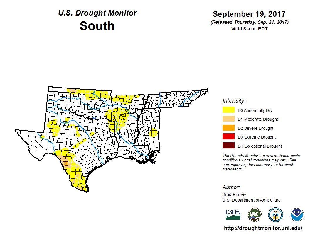 United States Drought Monitor Current Map State Drought Monitor - Us department of agriculture california drought map