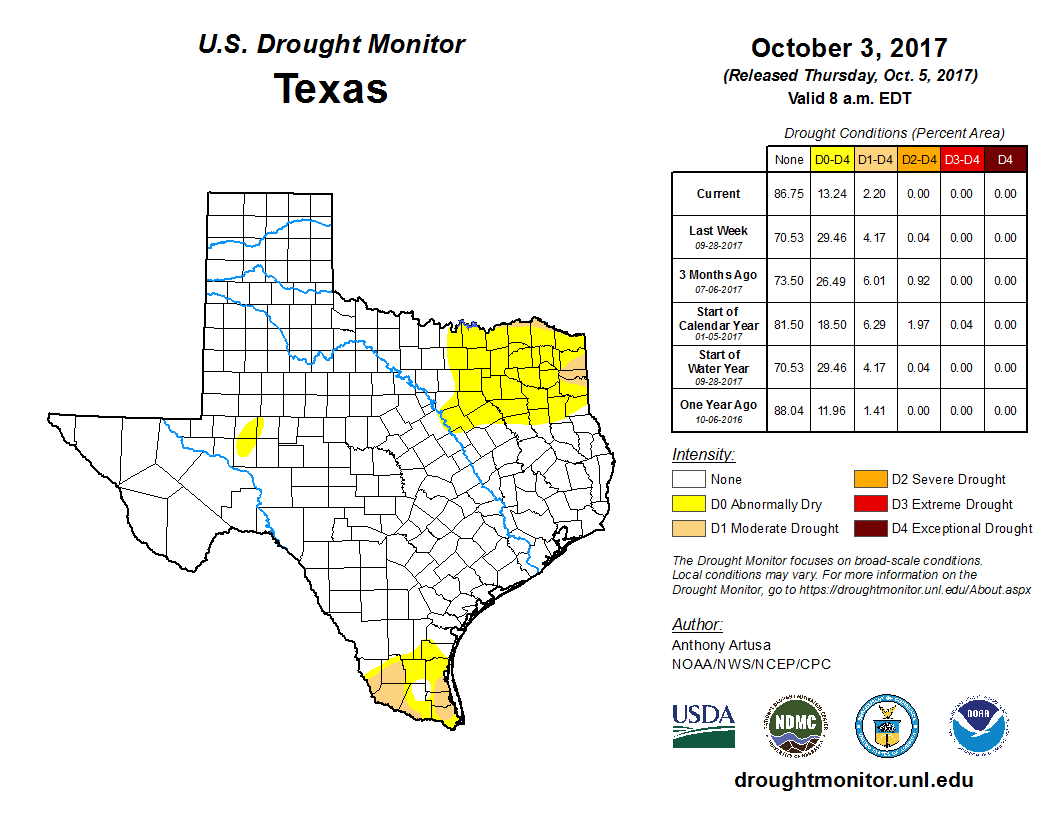 United States Drought Monitor Current Map State Drought Monitor - D3 us states map