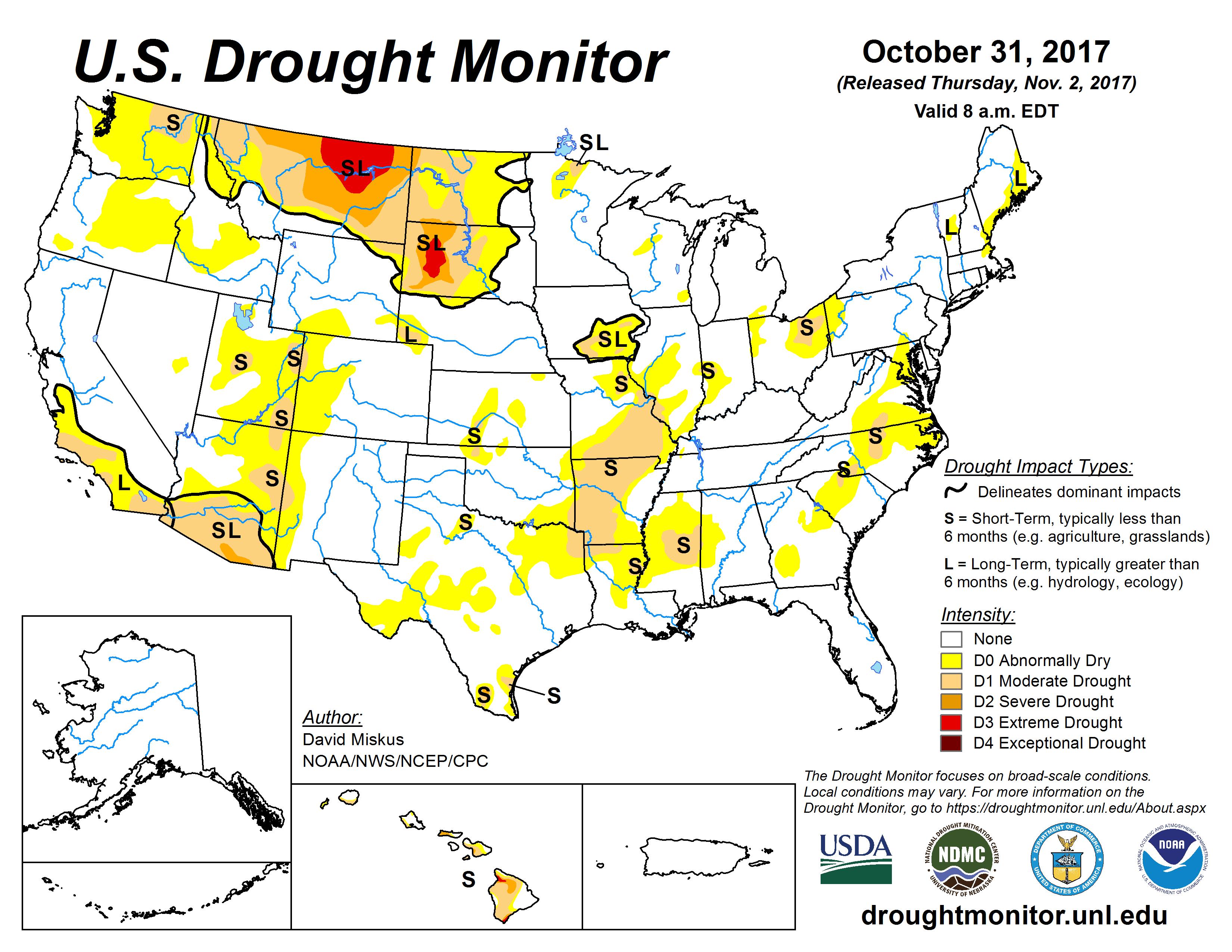 US Drought Monitor - Nasa us drought maps