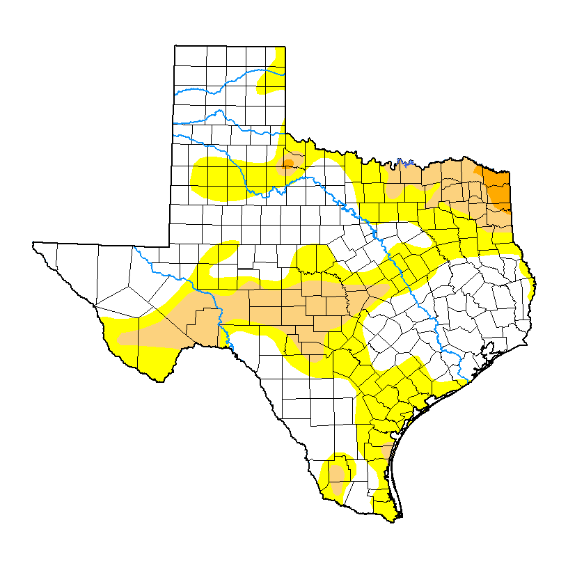 United States Drought Monitor Current Map State Drought Monitor - State map of texas