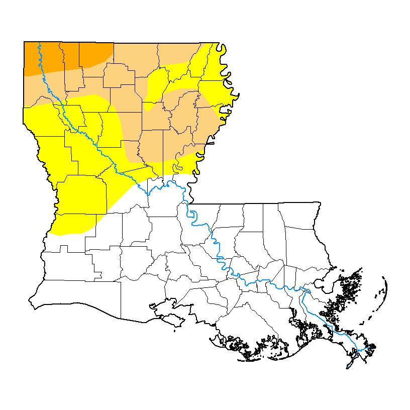 Caddo Lake Water Level - Louisiana lakes map