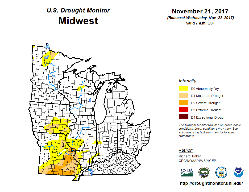 US Drought Monitor Update For January 17 2017 National US Drought