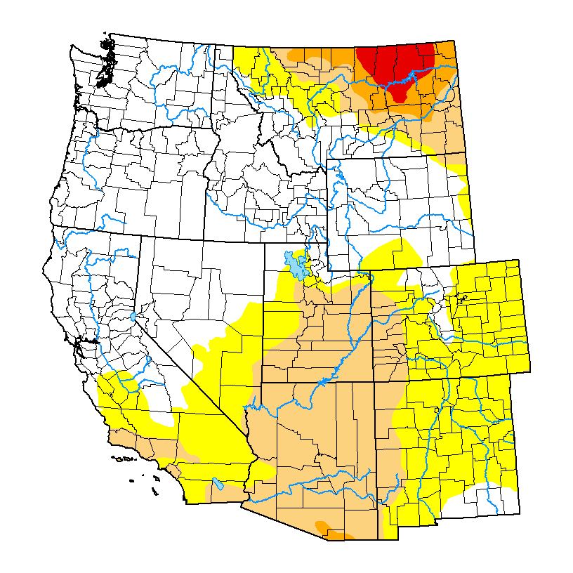 United States Drought Monitor Current Map State Drought Monitor - Us drought map weather com