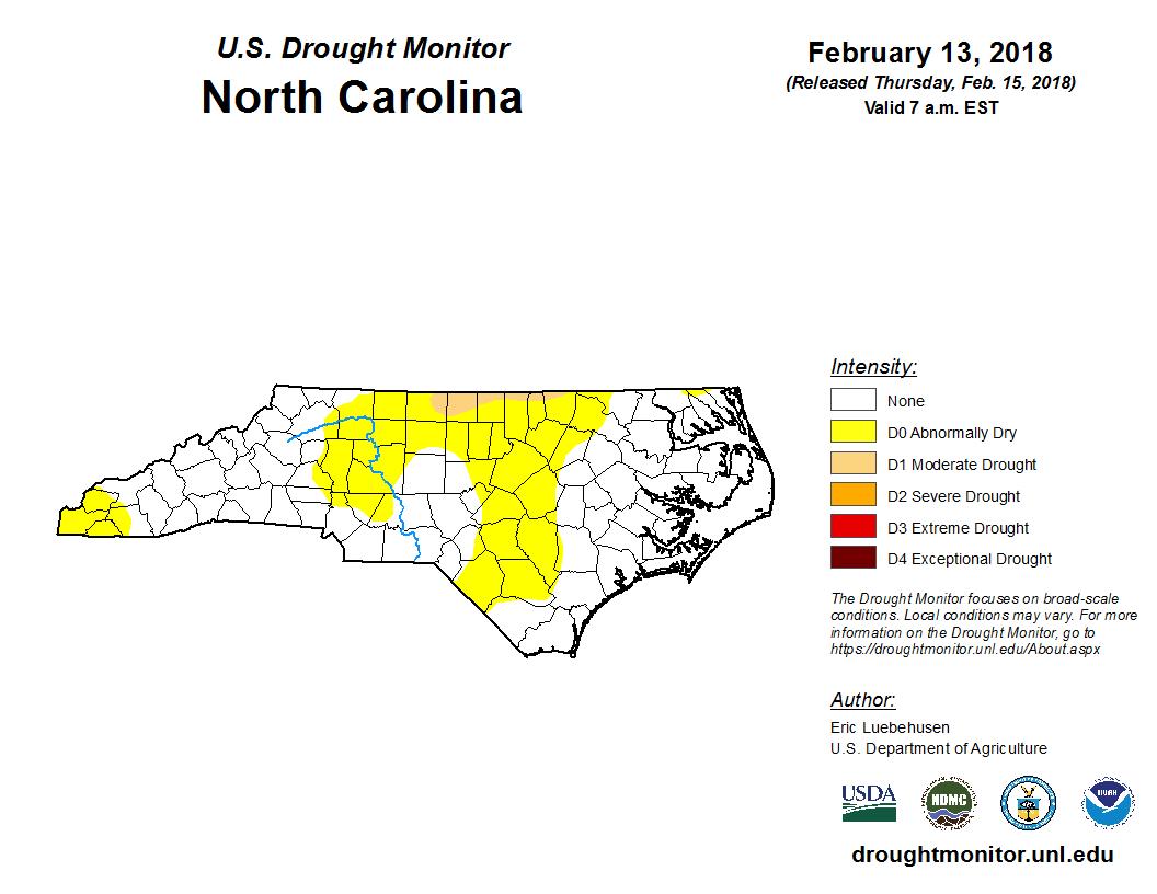 Drought Monitor for North Carolina