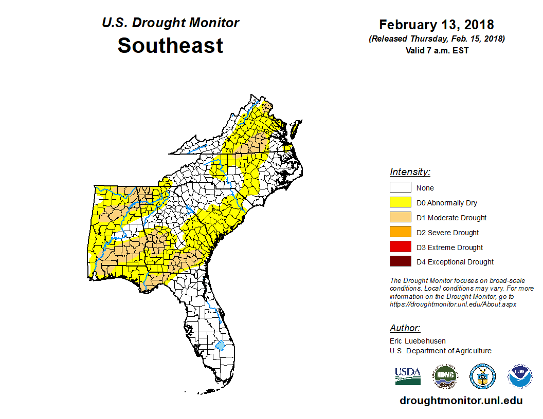 Drought Monitor for Southeast