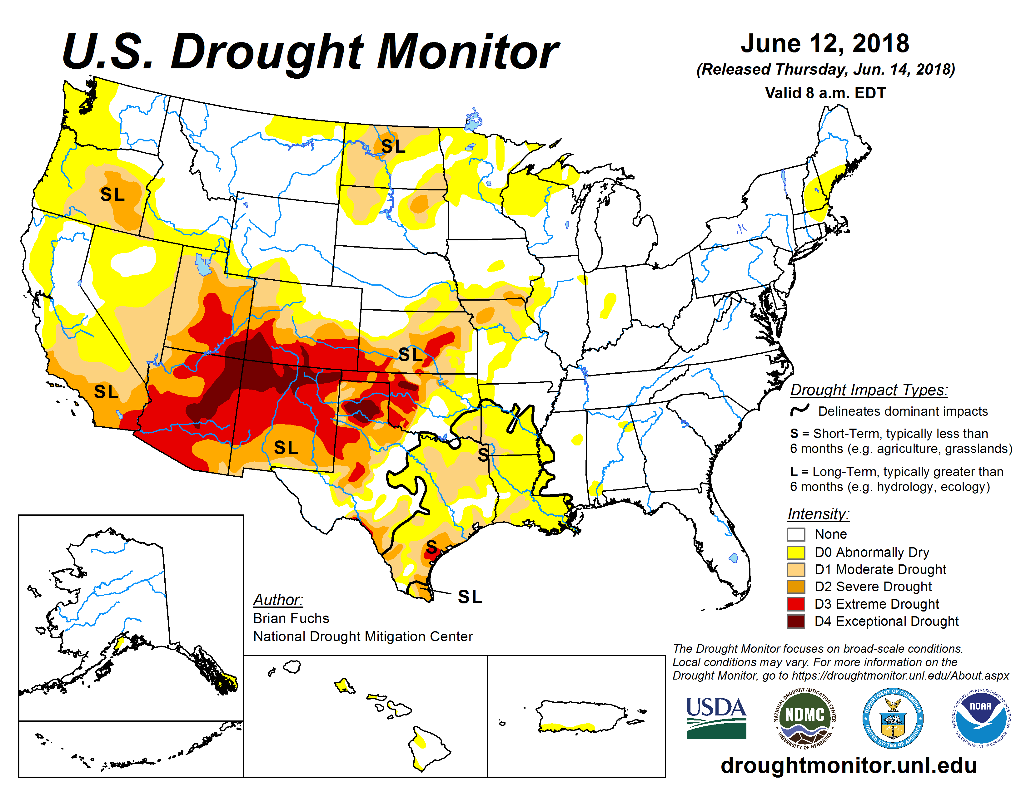 Current U.S. Drought Monitor