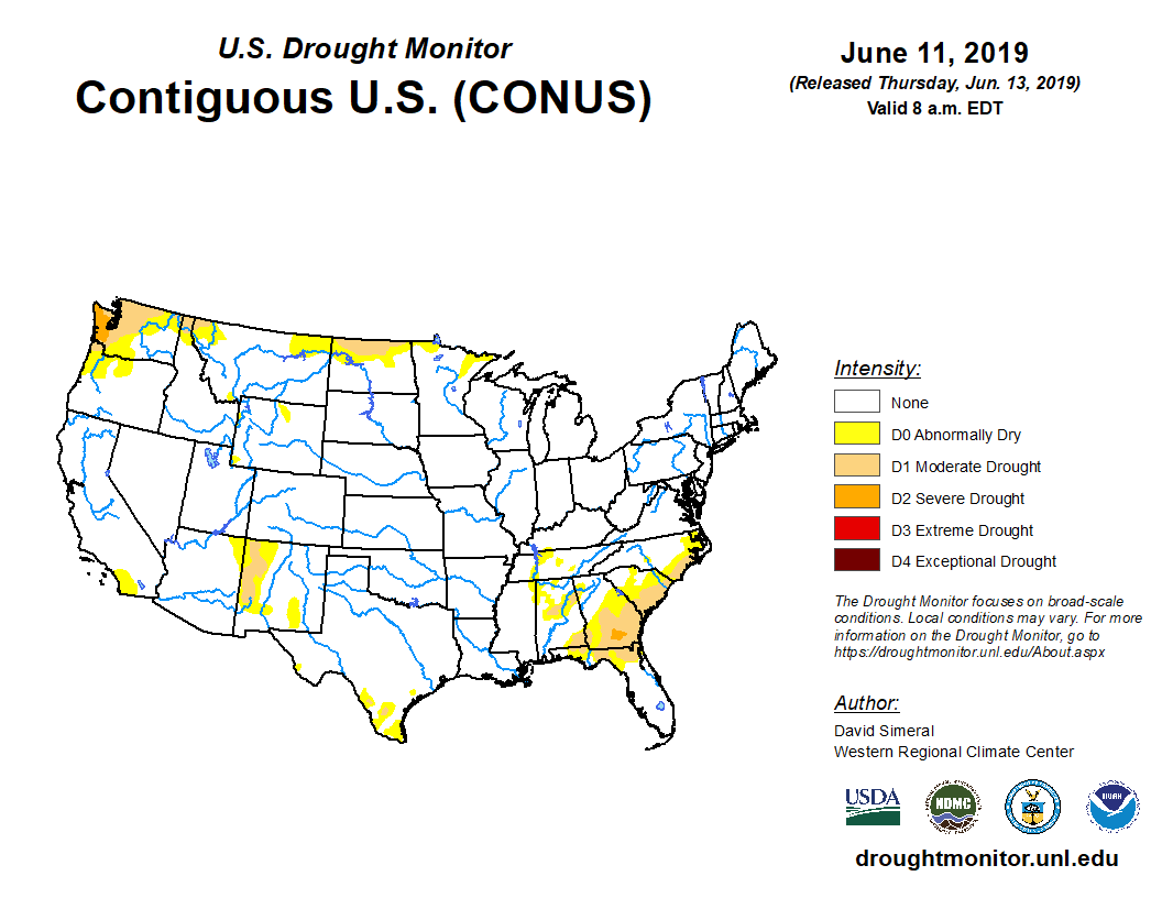 State Drought Monitor United States Drought Monitor - Us-map-legend