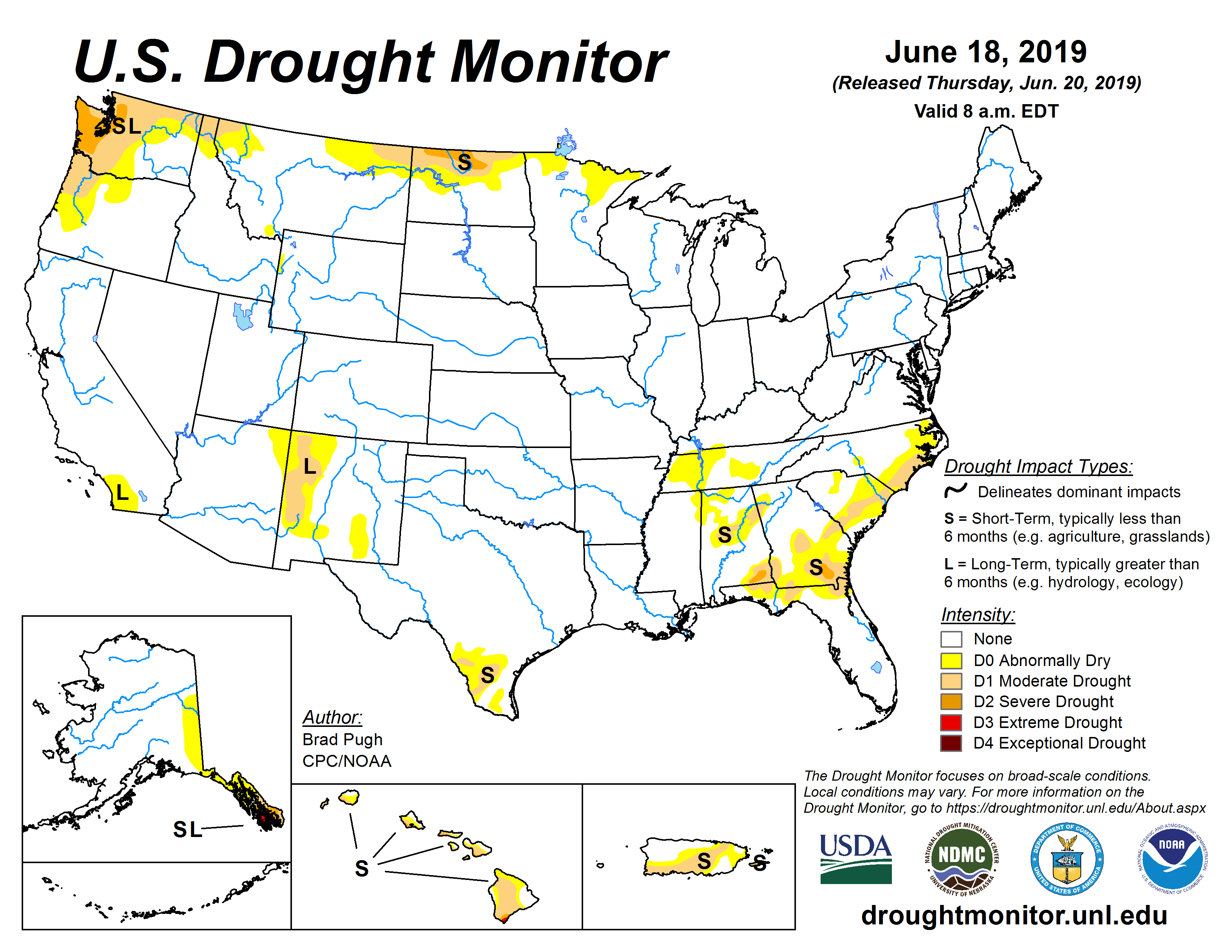 Current Map United States Drought Monitor - Map-of-us-agriculture