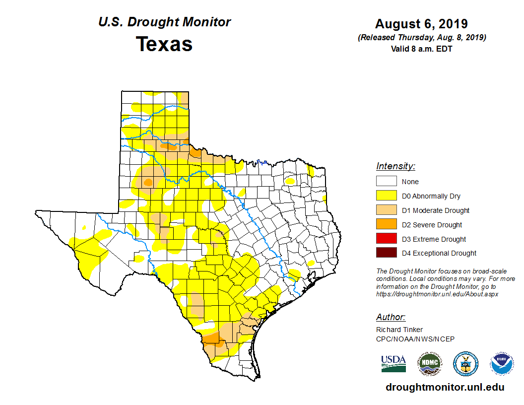 Image Of Texas Map.State Drought Monitor United States Drought Monitor