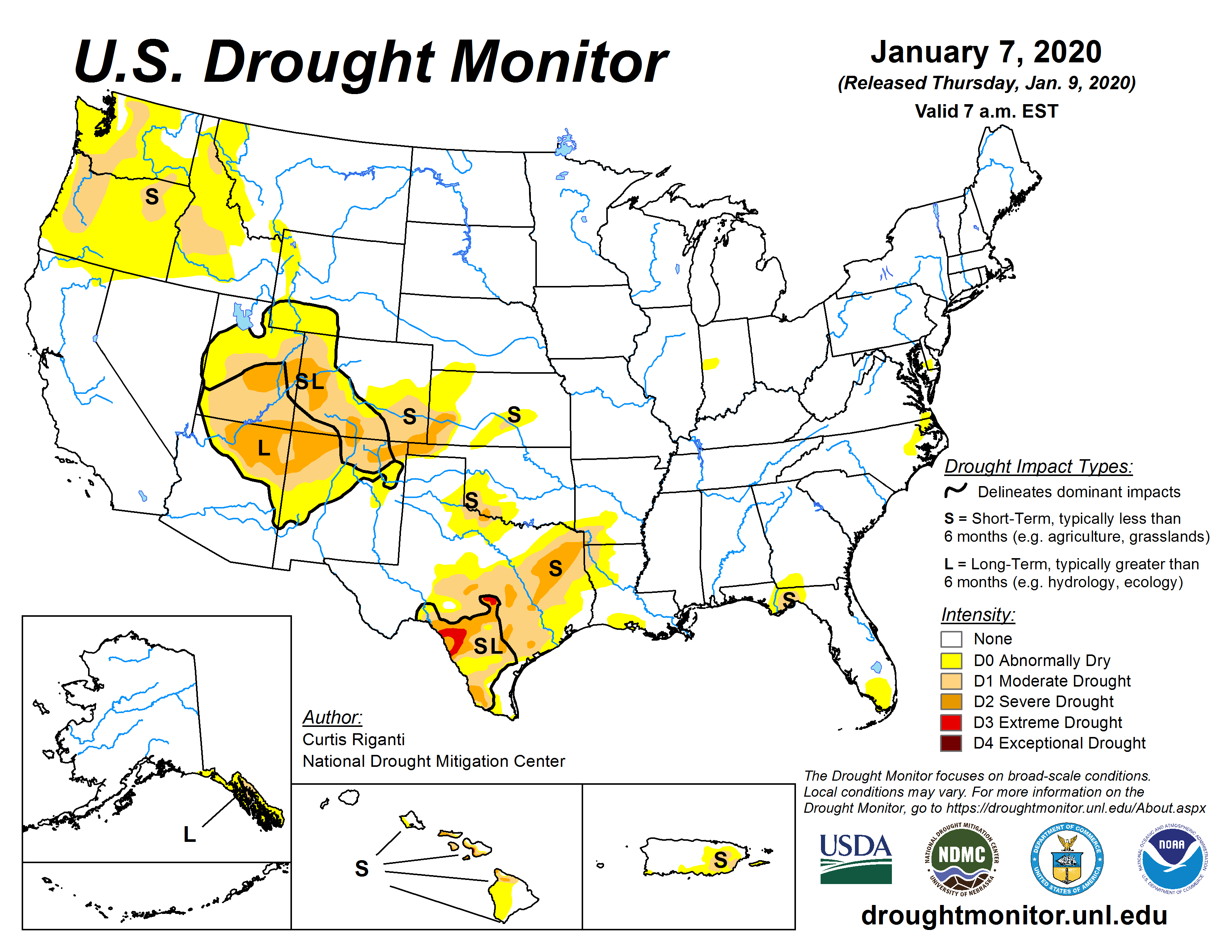 Current Map | United States Drought Monitor