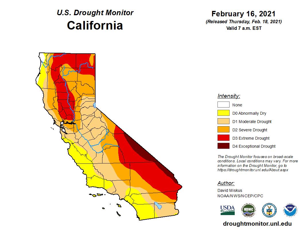 Monitoraggio della siccità negli Stati Uniti