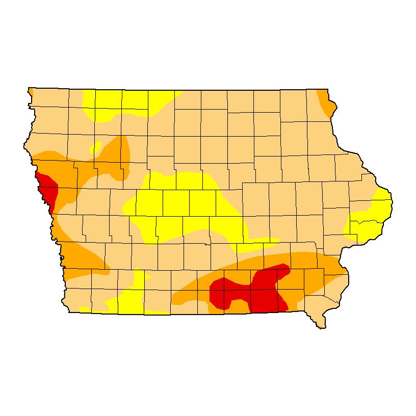 Latest drought monitor over Iowa