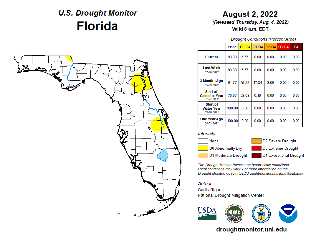 Florida Drought Monitor