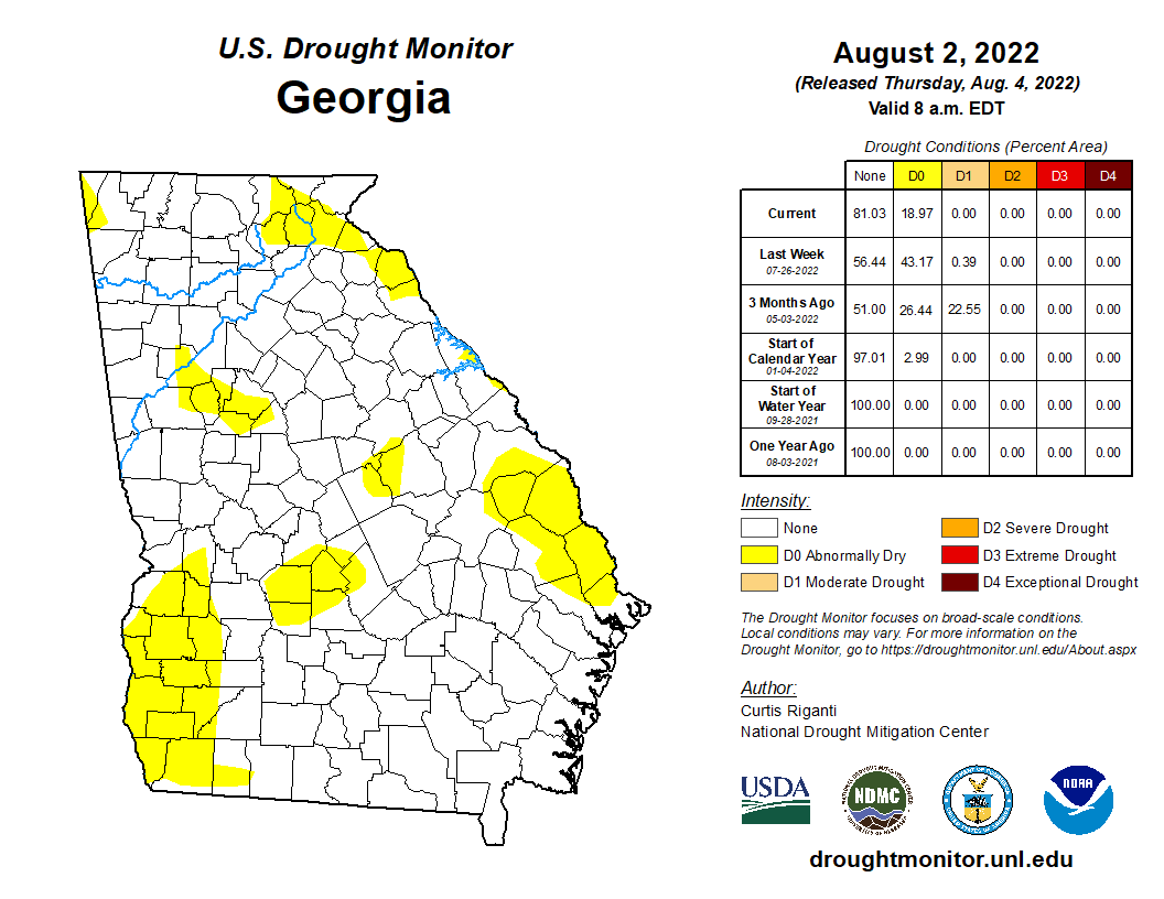drought monitor for GA