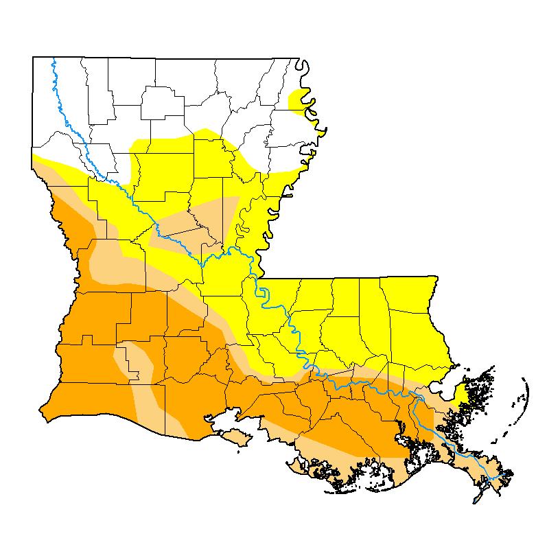 Louisiana Drought Monitor image