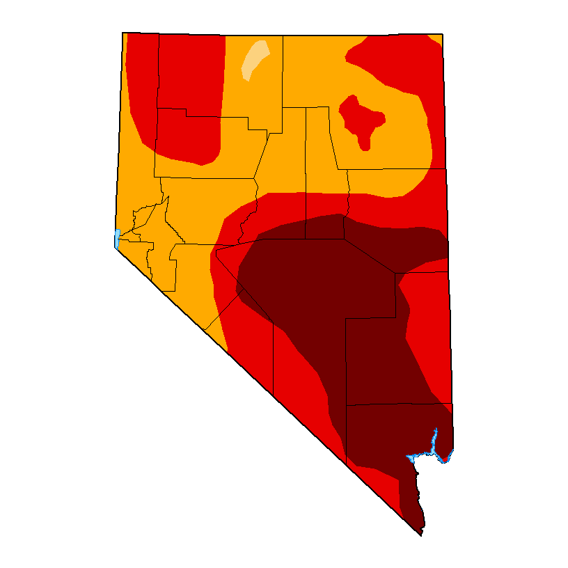 State of Nevada Drought Map