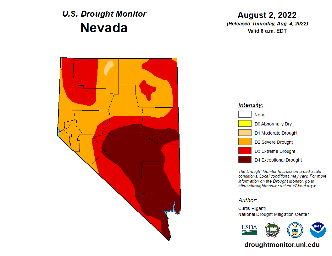Nevada Drought Monitor Map