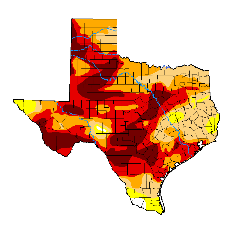 Texas Drought Monitor image