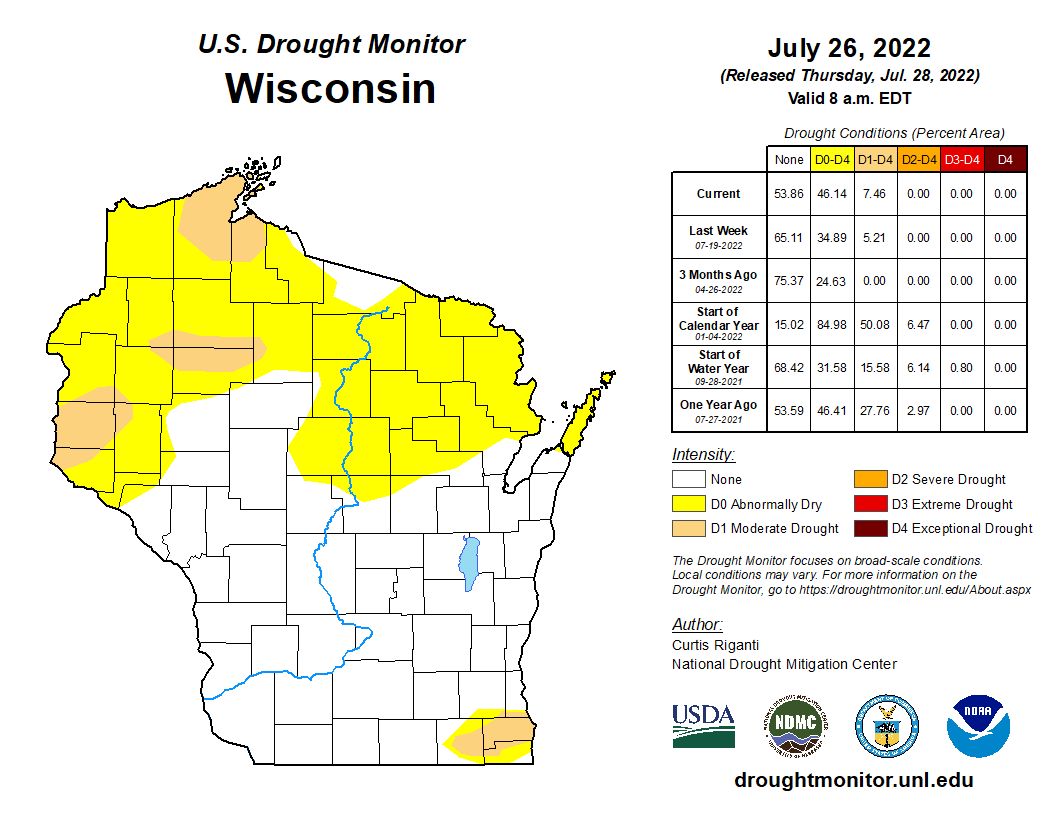 Athelstane Weather Unl And Climate Prediction Center Drought Monitors